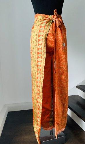 Aus Mauritius Hosenrock zum Wickel aus reiner Seide, S-XL geeignet