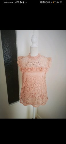 Aus NYC: apricosenrosé-farbende Bluse von Topshop