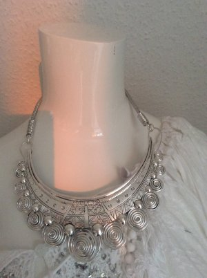 Handarbeit aus Tibet Collar estilo collier color plata