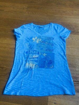 Ausbrenner Shirt in türkis Größe 40