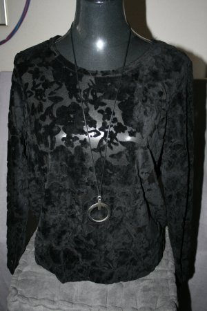 Ausbrenner Shirt / Pulli in schwarze Gr. 40 - neu