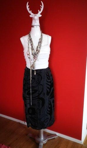 Cocon Commerz Wraparound Skirt black silk