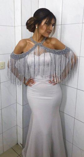 ausgefallen elegantes meerjungfrauenkleid in grau