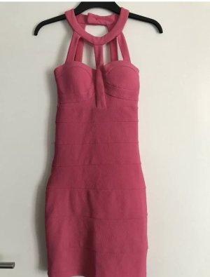 Ausgefallen Kleid Neckholder Etui Pink Gr 34 NEU