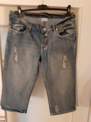 Jeans a 3/4 multicolore Tessuto misto