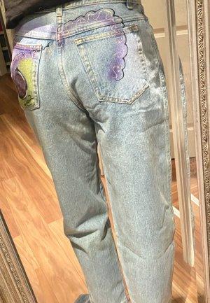 Ausgefallene 90er Jahre True Vintage High waist Jeans Highlight auf dem Hintern 38/40/42 S/M/L