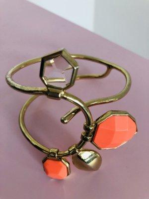 Bracciale bronzo-arancio neon