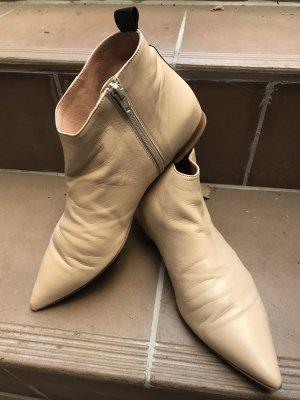 Ausgefallene beigefarbene Stiefelette Gr 40, 3x getragen