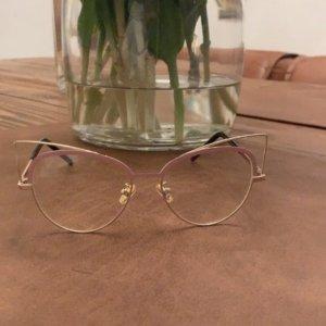 Ausgefallene Brille in Gold- Rosa