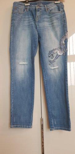 Ausgefallene Cambio Jeans mit Stickerei