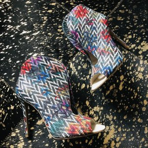 Ausgefallene, Farbenfrohe Peep-Toe Stiefeletten von Fersengold - selten