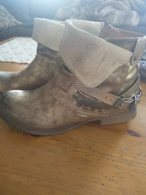 Cm Laufsteg Ankle Boots gold-colored-bronze-colored leather
