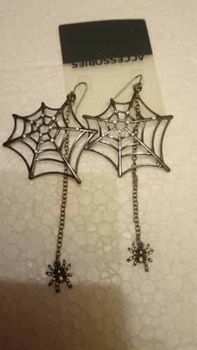 Ausgefallene Große Ohrringe Spinnernetz mit Strasssteine , Spinne