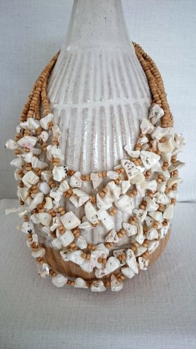Shell Necklace sand brown-white