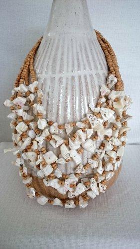 Collar de conchas marrón arena-blanco