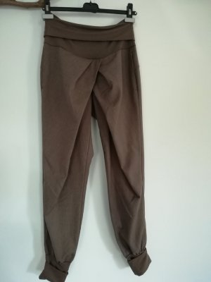 Rinascimento Pantalon large marron clair-bronze