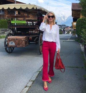 Cambio Pantalone a 7/8 rosso mattone-rosa pallido