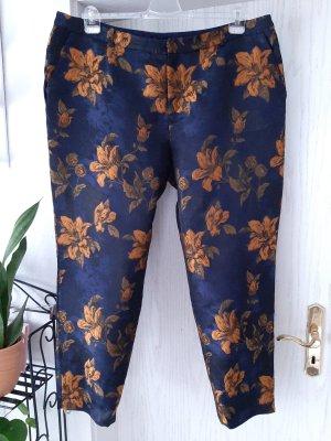 Manon Baptiste Pantalone da abito arancione scuro-blu scuro