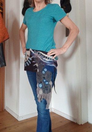 HANDMADE BY GERMANY Gonna di lana multicolore Lana