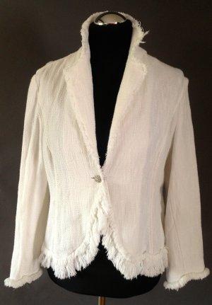 Apanage Krótka kurtka biały Bawełna