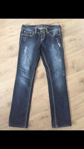 Antiquet Rivet Jeans coupe-droite bleu