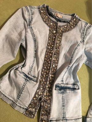 0039 Italy Denim Jacket pale blue-azure