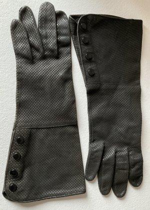 / Gants en cuir noir cuir