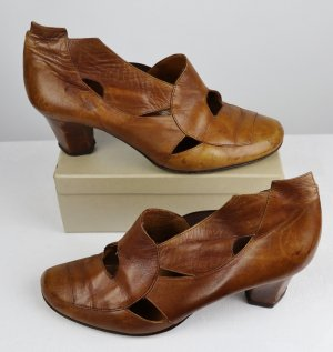 Lisa Tucci High-Front Pumps cognac-coloured-brown leather