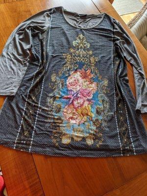 Ausgefallene Long Tunika aus Baumwolle von Emilia Lay in Größe 44/ Größenetikett wurde rausgeschnitten
