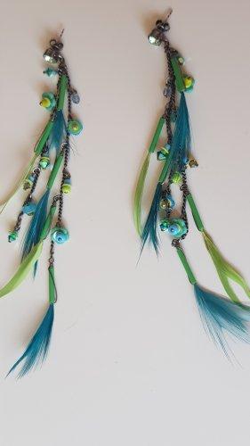 ausgefallene Ohrringe Federn/Perlen von konplott