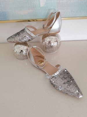 Ras Ballerinas with Toecap silver-colored