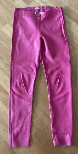 Riani Pantalone in pelle rosa Pelle