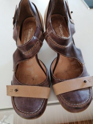 Tamaris Backless Pumps light brown-brown
