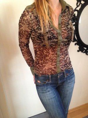 ausgefallene Shirtbluse, Militäry-Look, Mexx, Größe XS/S