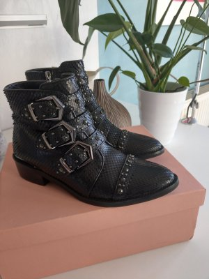 Alma en Pena Booties black leather
