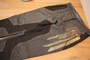 Pantalone da cavallo multicolore Tessuto misto