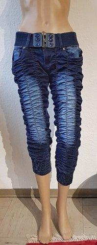 ausgefallene Stretch-Jeans mit gerafftem Stoff
