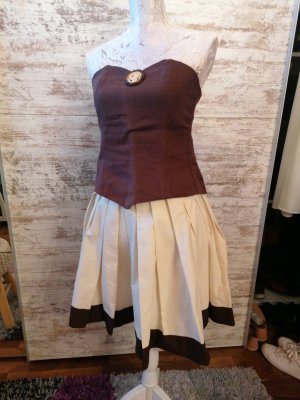 selfmade Dirndl brown-oatmeal