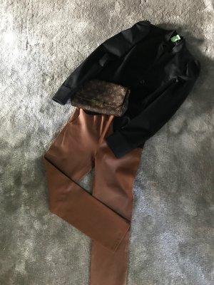 Sisley Blazer corto nero Cotone
