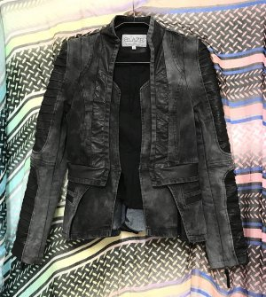 Blaze Denim Blazer dark grey-black cotton