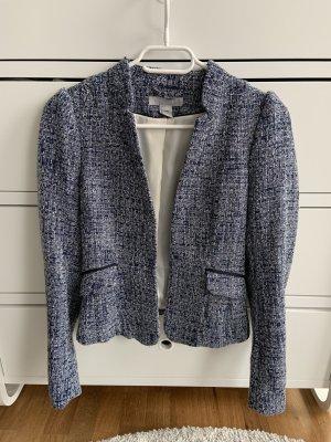H&M Tweedowa marynarka stalowy niebieski-biały