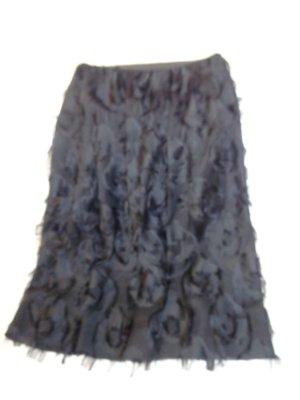 Falda con flecos negro Fibra sintética