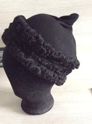 Hut Manufaktur/ Anfertigung Vilten hoed zwart