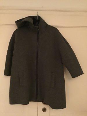 Angela Davis Oversized Coat dark grey