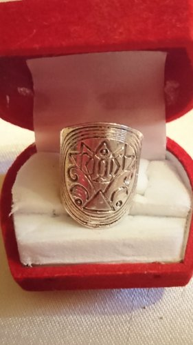 Ausgefallener  lange Ring  mit Motiv Gr.16,5