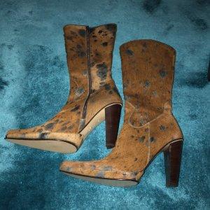 Futrzane buty brązowy