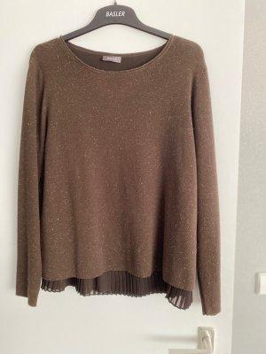 Basler Fine Knit Jumper brown polyester