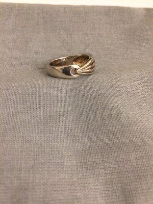 Anillo de plata color plata-color oro metal