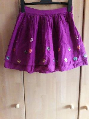 Falda de tul violeta amarronado