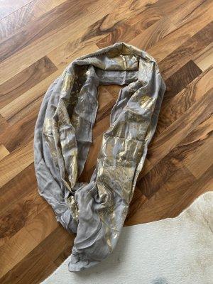 Ausgefallener Schal, grau - Gold von Passigatti